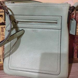 Coach Handbags - Mint green cross body Coach bag