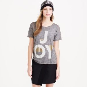 "*Firm* J crew ""Joy"" graphic tee shirt"