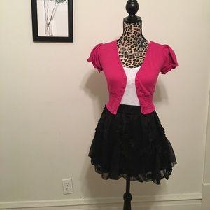 liv Sweaters - Pink Short Sleeve Cardigan
