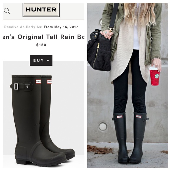 6a4a14ba8555 Hunter Boots Shoes - Hunter Original Matte Black Tall Boots!