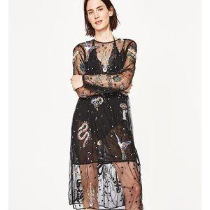 🆕 Embroidered Tulle midi dress