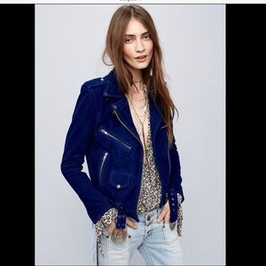 Free People X Understated Leather Suede Jacket M