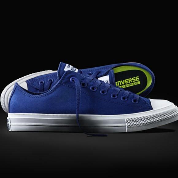 buty jesienne przytulnie świeże dobra jakość NWT Converse Chuck II 2 Blue Low Top w/ Lunarlon NWT