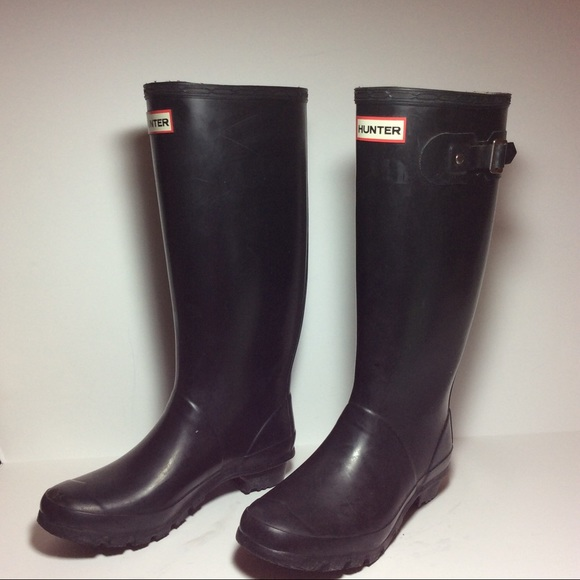 45 off hunter boots shoes matte black hunter tall boot