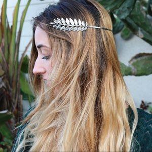 silver grecian halo headband