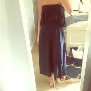 Zimmerman NWT silk strapless flounce dress