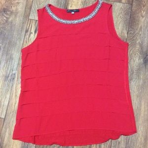 Rose & Olive Red Tank Top size Large