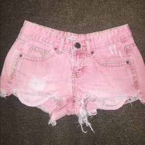 Pants - 🌸Sale🌸Pinkish colored distressed shorts