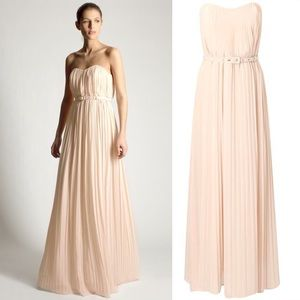French Connection Dresses & Skirts - French Connection Pleated Crepe Maxi Dress