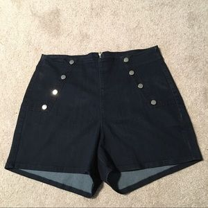 Angry Rabbit Pants - NWT High Waisted Retro Jean Shorts