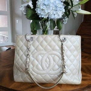 Authentic Chanel Metallic GST