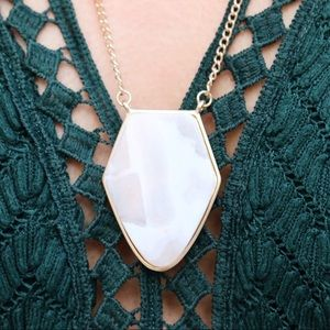 Jewelry - white marble stone necklace