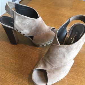 Donald J. Pliner Shoes - Donald Pliner Sz 39 Suede Brown Booties