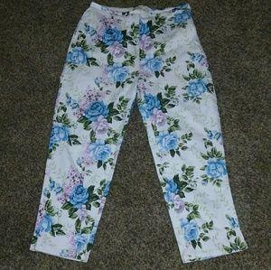 St. John's Bay Pants - NWOT Floral Capri-Crop Pants!!