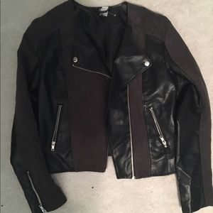 H&M LEATHER AND SUEDE JACKET