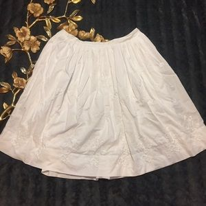 Banana Republic White Cotton Skirt Size 14