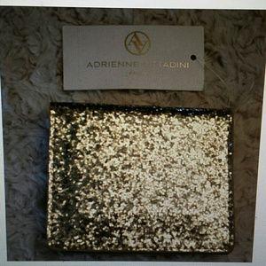 Adrienne Vittadini  Handbags - Adrienne Vittadini NWT Gold Glitter Fold Wallet
