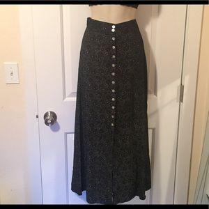 Authentic Original Vintage Style Dresses & Skirts - Vintage button down maxi Sz XS