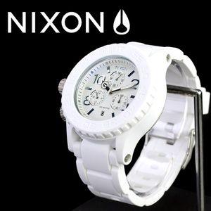 Nixon Accessories - 💚Nixon 42-20 White Dial Rubber Strap💚
