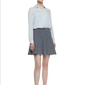 Theory lyerly striped flare knit skirt, nwt, 00