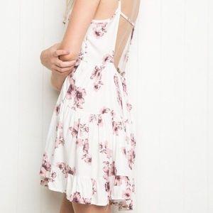 Brandy Melville Dresses & Skirts - Brandy Melville Pink and White Floral Jada Dress
