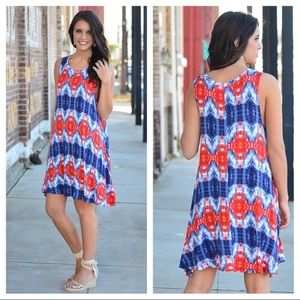 Dresses & Skirts - Tie Dyed Tunic/Dress. Perfect for Memorial Day