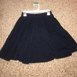 A&F Navy Skater Skirt