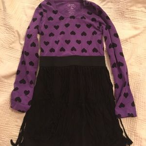 Flowers by Zoe Other - Purple and black heart fringe dress