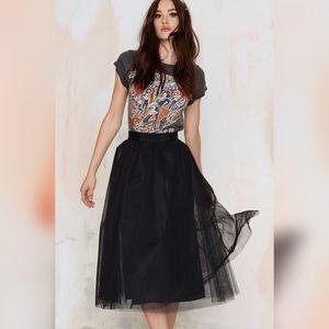 Spotted Mesh Tulle Skirt