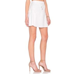 (NWT) Line & Dot White Lace Up Skirt