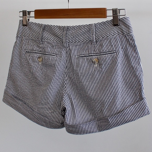 Club Monaco Shorts - Club Monoco Seersucker Striped Shorts