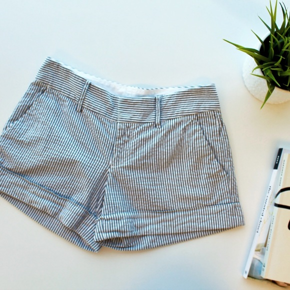 Club Monaco Pants - Club Monoco Seersucker Striped Shorts