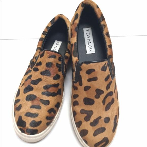 2dd480a3557 Steve Madden animal print slip on Sneakers. M 59169065f739bc404b08bede