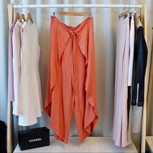 Pants - Apricot Wrap Palazzo Pants