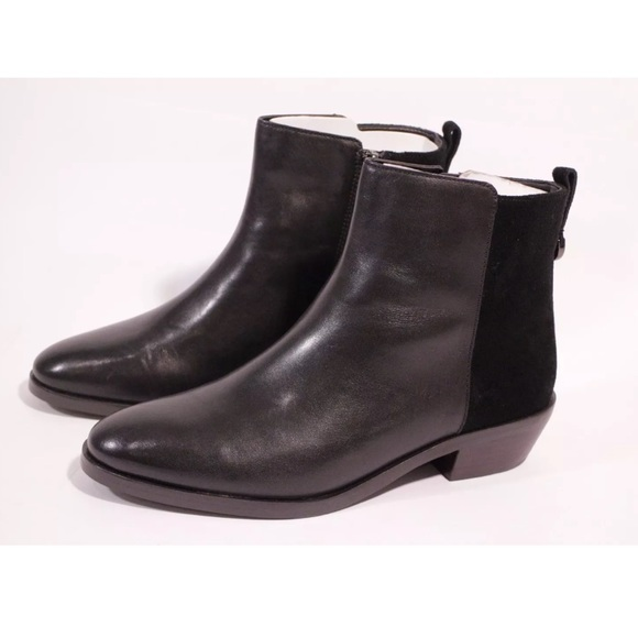 71 coach shoes coach black leather suede ankle