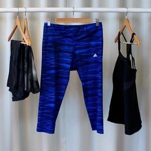 adidas Pants - Adidas Blue Athletic Crop Pants