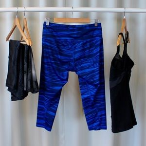 adidas Pants - Adidas Blue Athletic Crop Pants