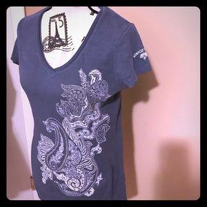 Smokey Blue patterned tee-shirt
