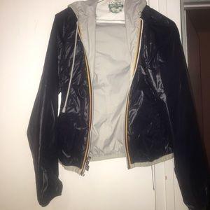 K-Way Jackets & Blazers - REVERSIBLE k-way waterproof jacket with zipper