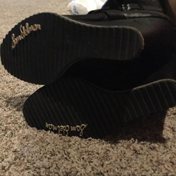 84 sam edelman shoes sam edelman black wedge