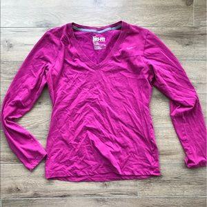 Nike Dri Fit v Neck long sleeves shirt