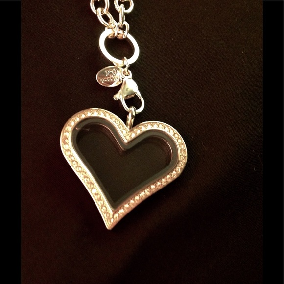 origami owl origami owl necklace and heart locket from