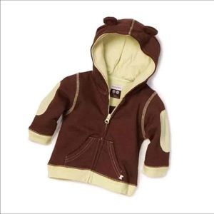 Baby Soy Other - Baby Soy Neutral Acorn Fleece Hoodie  - 0-6 mths