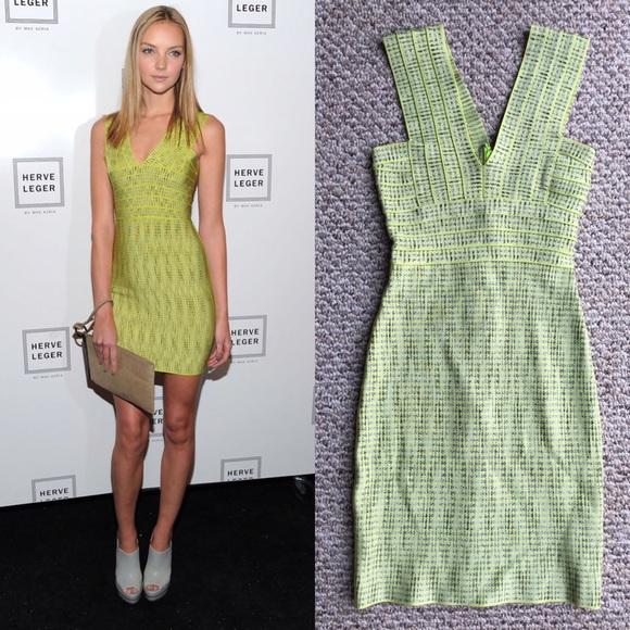 67a81800da71 Herve Leger Dresses   Skirts - Herve Leger INSPIRED Jacquard V-neck bandage  dress