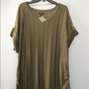 Apt.9 Sweaters - Women Plus Size 3X Olive sweater Top short sleeve