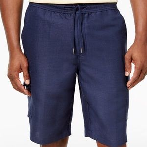 Cubavera Other - 🆕Lg Linen Cargo Shorts: SO COMFY Navy Blue, NWT⚡️