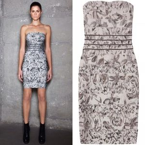 Herve Leger Dresses & Skirts - Herve Leger Oriana beaded Rose Print bandage dress