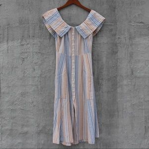 Reformation linen stripped dress