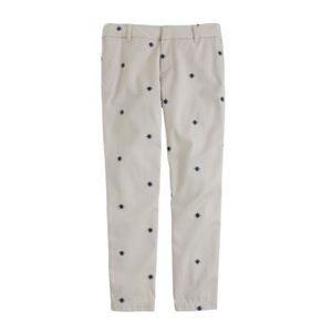 J. Crew Pants - J. Crew Navy Embroidered Scout Cropped Khaki Chino