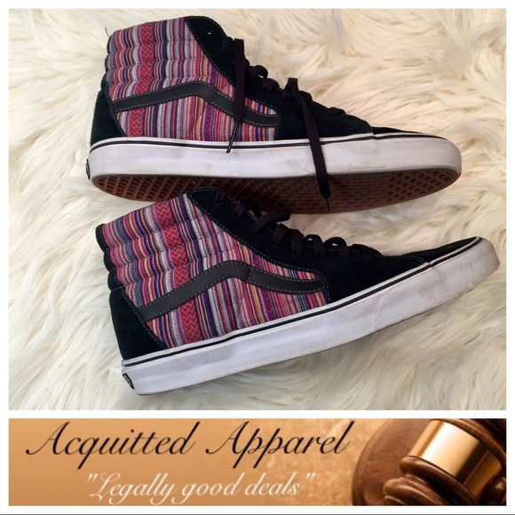 ...  Vans  Aztec Leather Suede High Top Shoes. M 59170920291a35f16b09daa0 dbc6134a1